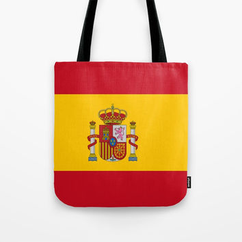 Flag of spain-spain,flag,flag of spain,espana,spanish,espanol,Castellano,Madrid,Barcelona, Tote Bag by oldking