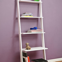 Leaning Book Shelf in White - Urban Outfitters