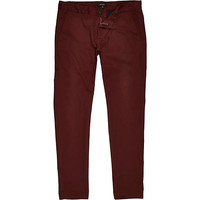 River Island MensBrown rust skinny chinos