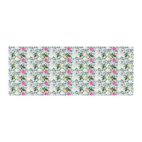 "Mayacoa Studio ""Romantic French Park"" Blue Pink Bed Runner"