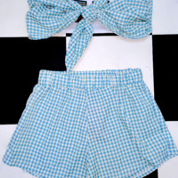 SWEET LORD O'MIGHTY! THE BRUNCH SET IN GINGHAM BLUE