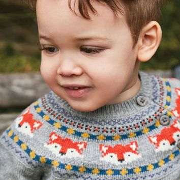 Fox Fair Isle Jumper Sweater by JoJo Maman Bebe