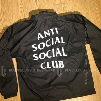 Anti Social Social Club Never gonna give you up Coach Jacket
