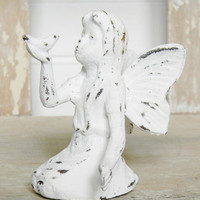Angel Statue with Bird - Choose Your Color - Colorful Cast and Crew