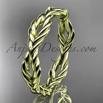 14k yellow gold twisted rope wedding band RP8117G
