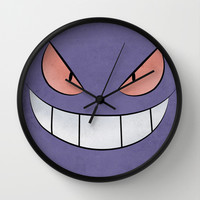 Gengar - Pokemon Minimal Poster Design Wall Clock by Jorden Tually Art | Society6