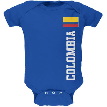 World Cup Colombia Blue Soft Baby One Piece