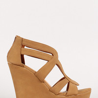 Strappy Open Toe Platform Wedge