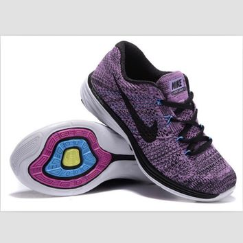 NIKE woven casual shoes light running shoes Purple(black hook)