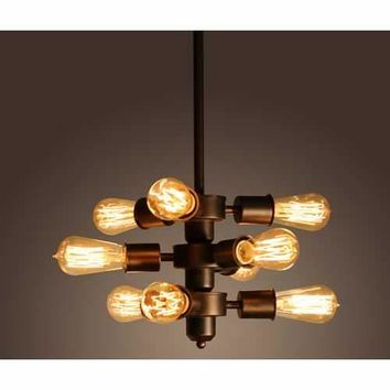 Mariam 9-light Adjustable Bulb Socket Edison Chandelier Including Bulbs