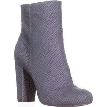 Charles by Charles David Lowell Block-Heel Ankle Booties, Stone Grey, 8.5 US