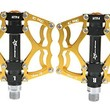 RockBros Bike Pedals Cycling Sealed Bearing Pedals (Gold)