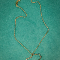 Kentucky State Necklace in Gold