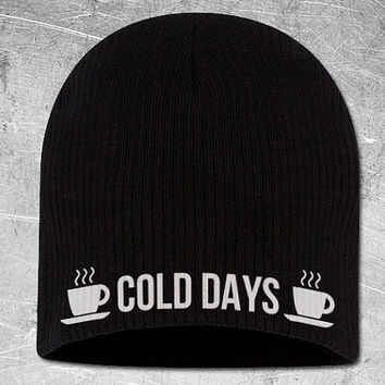 Cold Days Chunky Skully Black Beanie