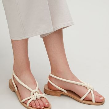 Knotted strap sandals - Cream - Shoes - COS US