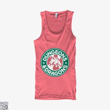 Starbucks Parody Mashup, Dragon And Dungeon Tank Top