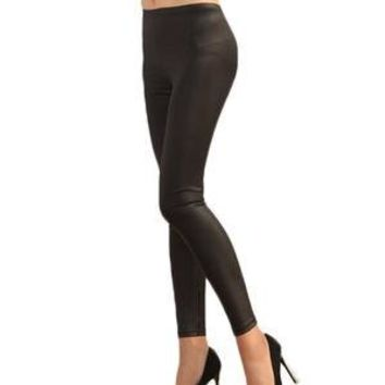 Women's Leggings Solid Color Mid Waist Plus Size