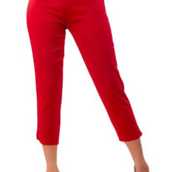 Women's Side Zip Capri Pants