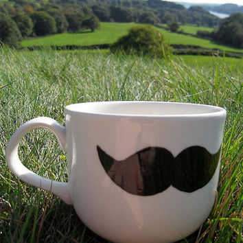 Mr Teacup's miniature moustache teacup / mug by MrTeacup on Etsy