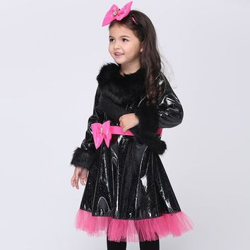 European and American Children Girl Halloween Costumes Cat Girl Cosplay Dress Baby Girls Cosplay Dress Kids Carnival Clothes