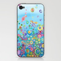 Inner Circle - Blue iPhone & iPod Skin by Catherine Holcombe | Society6