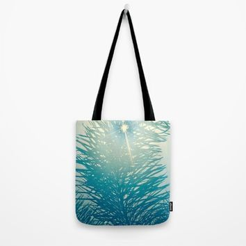 Peeking Sun Tote Bag by UMe Images
