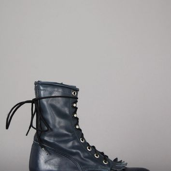 Wrangler Justin Lace Up Leather Ankle Boots