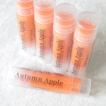 NEW FLAVOR! Autumn Apple Lip Butter - herbal lip balm, pure essential oil blend, 100% natural