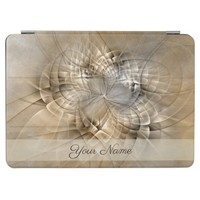 Earth Tones Abstract Modern Fractal Art Name iPad Pro Cover