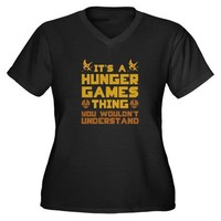 Hunger Games Thing Women's Plus Size V-Neck Dark T on CafePress.com