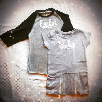 Unisex Youth Baby Bear Baseball Tee