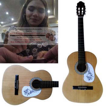 Abby Anderson Autographed Full Size 39 Inch Country Music Acoustic Guitar, Proof Photo
