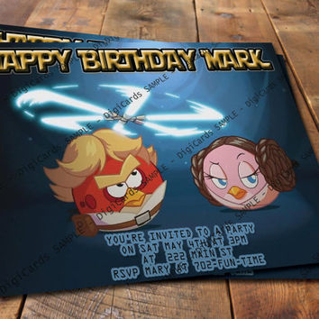 Angry Birds Star Wars Birthday Invitation