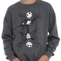 The Nightmare Before Christmas Jack Playing Card Crew Pullover 2XL