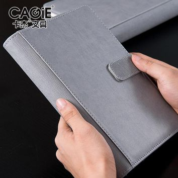 CAGIE Business Spiral A5 Notebooks Creative Vintage Office Filofax Planner Notebook Pu Leather notebook bloco de notas