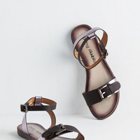 ModCloth Luminosity of Lights Sandal in Pewter