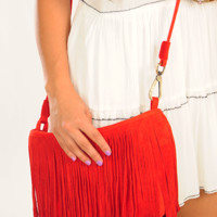 Oh My Fringes Purse: Red