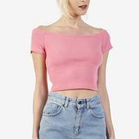 Off The Shoulder Top - Perf Pink