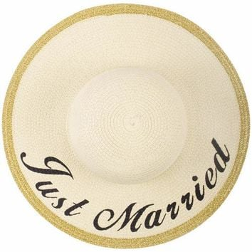 """Just Married"" Floppy Hat"