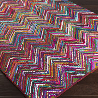 Boho Area Rug | Pink Natural Fiber and Texture Rugs Hand Hooked | Style BOH2000
