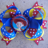 Jessie From Toy Story Inspired Hair Bow