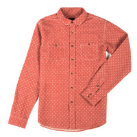 Polka Button Down Red