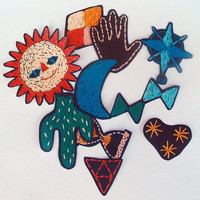 Orienteering Stickers Decals - Hand Embroidered Motifs including Cactus, Sun and Moon!