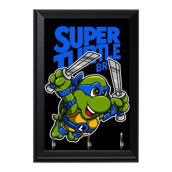 Super Turtle Bros Leo Decorative Wall Plaque Key Holder Hanger