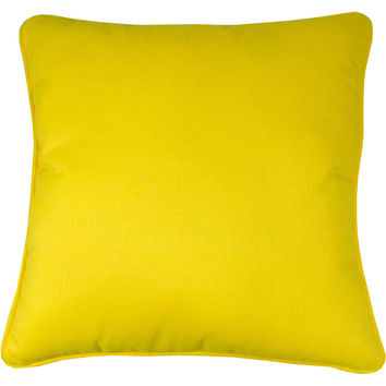 "Sunbrella Sunflower Yellow Indoor/Outdoor Pillow, 18"" x 18"""