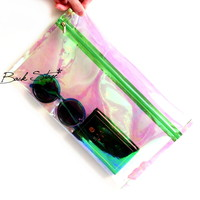 Transparent Clear Rainbow Hologram Holographic Clutch Purse
