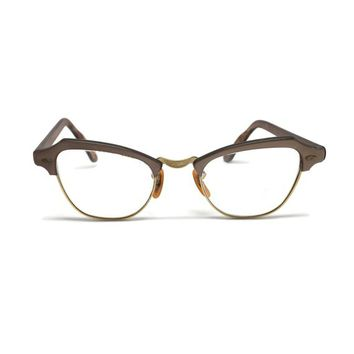 c46a3128938f Cat Eye Glasses 1950s Bausch and Lomb Size 5 1/2, Vintage Retro