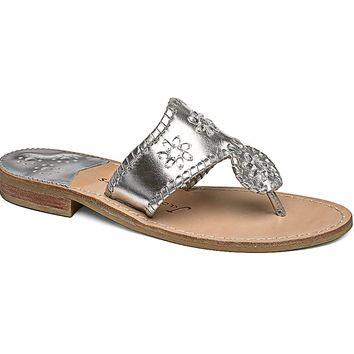 Enchanted Navajo Sandal in Silver by Jack Rogers
