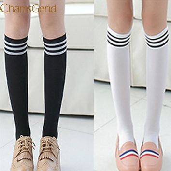 11.11.2017 Socks Women Winter Striped Knitted Stockings Knee Socks Thick Warm Socks Leg Warmers Woman Thigh High Stocking 44#