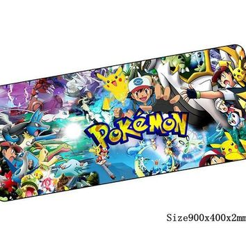 s mouse pad large pad to mouse notbook computer mousepad locked edge gaming padmouse gamer to laptop keyboard mouse matsKawaii Pokemon go  AT_89_9